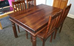 Sheesham Dining Tables And 4 Chairs