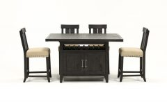 Jaxon 5 Piece Extension Counter Sets with Fabric Stools