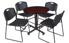 Round Breakroom Tables and Chair Set