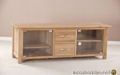 Oak Tv Stands with Glass Doors