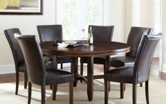 Caden 7 Piece Dining Sets with Upholstered Side Chair