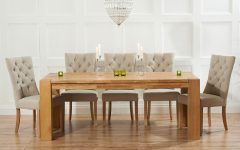 Oak Dining Tables And Fabric Chairs