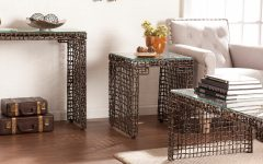 The Curated Nomad Belize Woven Cocktail Tables