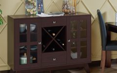 Contemporary Espresso 2-Cabinet Dining Buffets