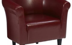 Liam Faux Leather Barrel Chairs