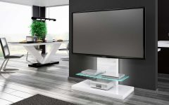 White High Gloss Corner Tv Stands