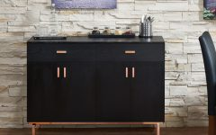 Contemporary Black Dining Buffets