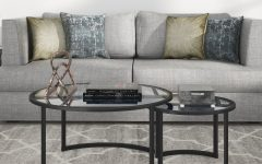 Mitera Round Metal Glass Nesting Coffee Tables