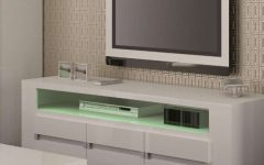 White Gloss Tv Stands With Drawers