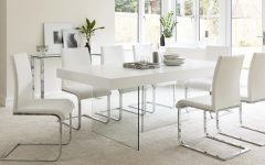 White Gloss and Glass Dining Tables