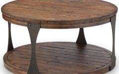 Montgomery Industrial Reclaimed Wood Coffee Tables with Casters