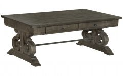 Bellamy Traditional Weathered Peppercorn Storage Coffee Tables