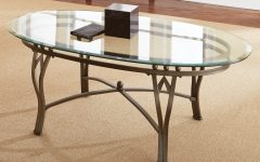 Copper Grove Woodend Glass-top Oval Coffee Tables