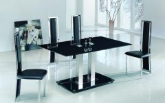 Black Glass Dining Tables And 6 Chairs