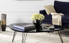 Safavieh Mid-Century Wynton White Black Lacquer Modern Coffee Tables