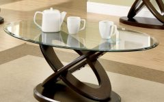 Evalline Modern Dark Walnut Coffee Tables