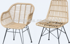 Natural Rattan Metal Chairs