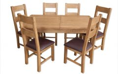 Oak Extending Dining Tables and 6 Chairs