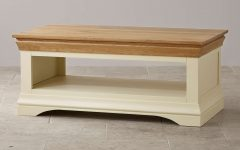 Oak and Cream Coffee Tables