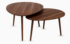 Oval Walnut Coffee Tables