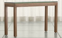 Parsons Grey Marble Top & Elm Base 48X16 Console Tables