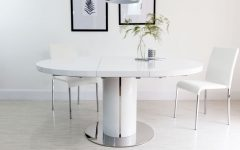 White Round Extending Dining Tables