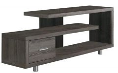 """Techni Mobili 53"""" Driftwood Tv Stands in Grey"""