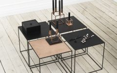 Flat Black And Cobre Coffee Tables