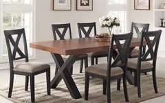 Laurent 7 Piece Rectangle Dining Sets with Wood Chairs