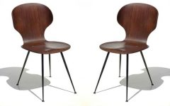 Plywood & Metal Brown Dining Chairs