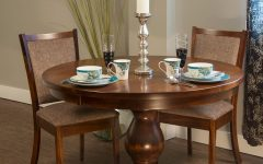 Gaspard Maple Solid Wood Pedestal Dining Tables