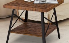 Carbon Loft Enjolras Wood Steel Coffee Tables