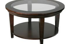 Round Wood And Glass Coffee Tables
