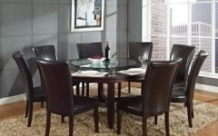 Caden 5 Piece Round Dining Sets With Upholstered Side Chairs