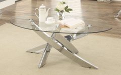 Propel Modern Chrome Oval Coffee Tables