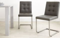 Grey Leather Dining Chairs