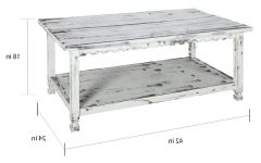 Alaterre Country Cottage Wooden Long Coffee Tables