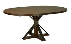 Geneve Maple Solid Wood Pedestal Dining Tables