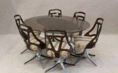 Retro Glass Dining Tables and Chairs