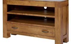 Dark Wood Corner Tv Stands