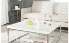 Safavieh Malone White Chrome Coffee Tables