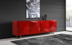Modern Red Buffets
