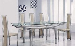 Glass Extendable Dining Tables And 6 Chairs