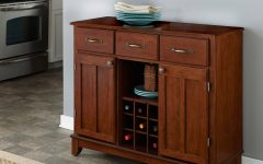 Medium Cherry Buffets with Wood Top