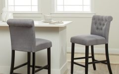 Laurent 7 Piece Counter Sets with Upholstered Counterstools