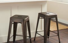 Laurent 7 Piece Counter Sets with Wood Counterstools