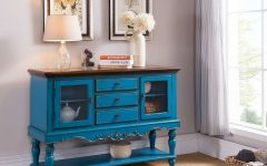 Blue Sideboards