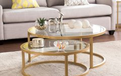 Silver Orchid Grant Glam Nesting Cocktail Tables