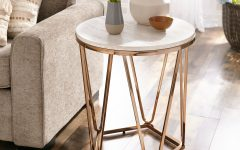 Silver Orchid Henderson Faux Stone Round End Tables