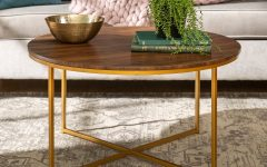 Silver Orchid Ipsen Round Coffee Tables with X-base